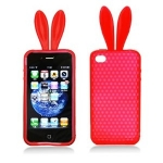 Red bunny ears phone cover at Amazon