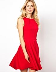 Red circle dress by Closet at Asos