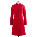 Red coat from Jcrew at J. Crew