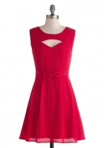 Red cutout dress at Modcloth at Modcloth