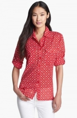Red dot print shirt by Bellefleur at Nordstrom