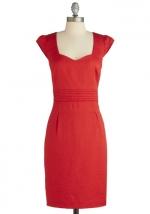 Red dress like Jess Days  at Modcloth
