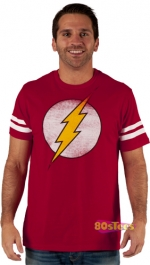 Red flash shirt like Sheldons at 80s Tees