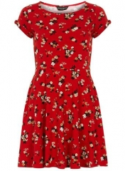 Red floral dress at Dorothy Perkins