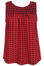 Red heart print top like Marc Jacobs at Romwe