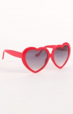 Red heart sunglasses at Pacsun at Pacsun