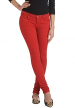 Red jeans from Modcloth at Modcloth