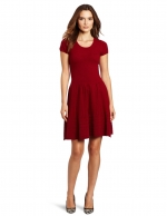 Red knit dress by Gabby Skye at Amazon