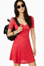 Red lace dress at Nasty Gal at Nasty Gal