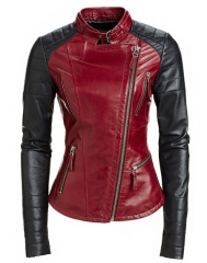 Red leather jacket at Danier