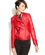 Red leather jacket by INC at Macys