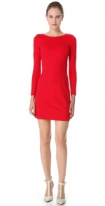 Red longsleeved dress like Janes at Shopbop