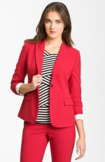 Red roll sleeve blazer by Vince Camuto at Nordstrom