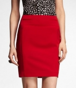 Red skirt from Express at Express
