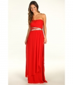 Red strapless Nicole Miller gown at Zappos