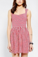 Red striped dress at Urban Outfitters at Urban Outfitters