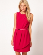 Red tulip hem dress from ASOS at Asos