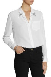 Reese Crystal Embellished Shirt at The Outnet