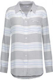 Reese striped washed-silk shirt at The Outnet