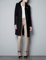 Regina's black coat at Zara