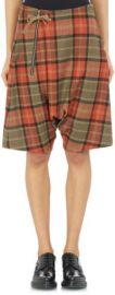 Regulation Yohji Yamamoto Plaid Sarouel Shorts at Barneys