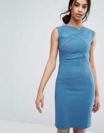 Reiss Aiken Fitted Slash Neck Dress at Asos