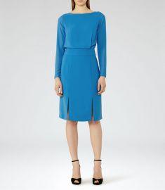 Reiss Alessa Sheer-Sleeve Dress  at Reiss