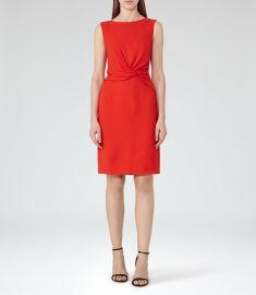 Reiss Erica Twist-Front Dress  at Reiss