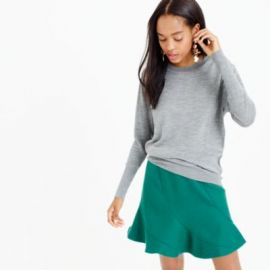 Relaxed merino wool pullover sweater at J. Crew