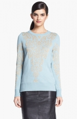 Remain Intarsia Knit Sweater in blue at Nordstrom