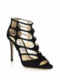 Ren 100 Suede Cutout Peep Toe Sandals at Saks Fifth Avenue