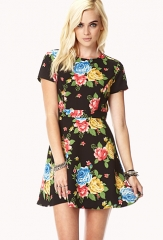 Retro floral dress at Forever 21