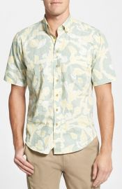 Reyn Spooner and39Shell Huntingand39 Modern Fit Wrinkle Free Short Sleeve Sport Shirt at Nordstrom