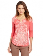 Riad tee by Lucky Brand in Calypso Coral at Amazon