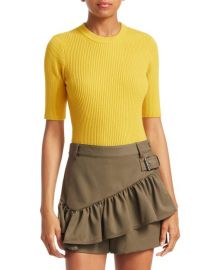 Rib Knit Short Sleeve Sweater by Phillip Lim 3.1 at Saks Fifth Avenue
