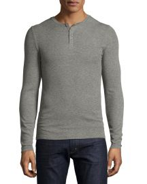 Ribbed Modal Henley T-Shirt at Neiman Marcus