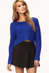 Ribbed Cropped Sweater at Forever 21