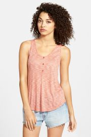 Ribbed Henley Tank Juniors at Nordstrom Rack
