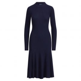Ribbed Merino Wool Dress by Ralph Lauren at Orchard Mile