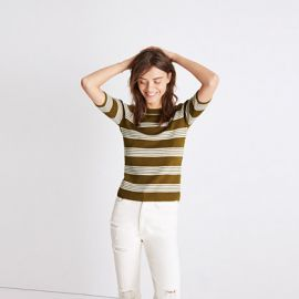 Ribbed Sweater Top in Bennett Stripe by Madewell at Madewell