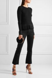 Ribbed-knit Peplum Sweater by Diane Von Furstenberg at Net A Porter