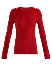 Ribbed-knit wool-blend top at Matches
