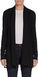 Ribbed open front cardigan at Saks Off 5th
