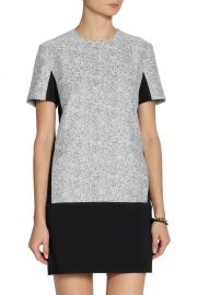 Richard Nicoll Jersey Tweed Mini Dress at The Outnet