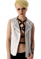 Right To Bare Arms Leather Vest by Kill City at Dolls Kill