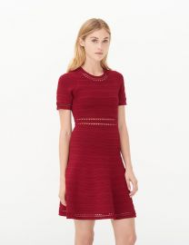 Riley dress in burgundy at Sandro