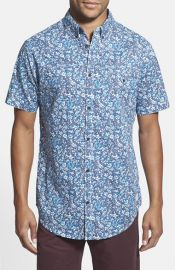 Rip Curl and39Flowerlandand39 Short Sleeve Print Woven Shirt at Nordstrom