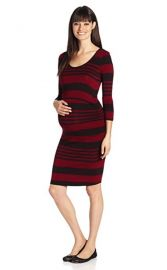 Ripe Maternity maternity Striped Nursing Tube Dress at Amazon