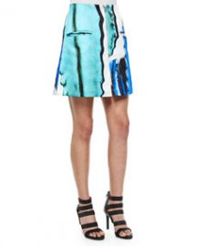 Risto Doppio Front-Zip A-Line Skirt at Neiman Marcus