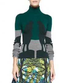 Risto Howling Wolves Turtleneck Knit Sweater at Neiman Marcus